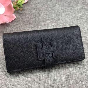 Hermes Long Black Wallet